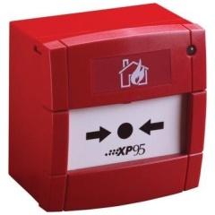 XP95 drukknop rood met ingebouwde isolator
