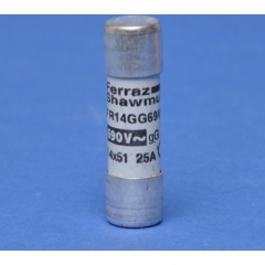 Cylindrische zekering FR gG 25A 14x51mm 690V