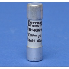 Cylindrische zekering FR gG 40A 14x51mm 500V