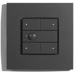 Schakelaar-Bewegingsdetector-Thermostaat 3-toets serie Niko Anthracite 122  RGB