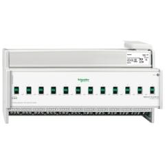 KNX schakelactuator REG-K 12x16A met handmatige bediening
