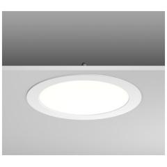 Toledo Flat inbouwdownlight rond LED 18W 3000K 100-240V D255mm IP40 wit
