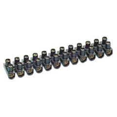 Klemmenstrook cap. 6mm zwart