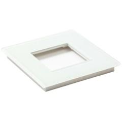 Glazen enkelvoudige afdekplaat Tastu voor Niko materiaal 45*45 (wit)