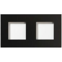 Glazen dubbelvoudige afdekplaat Tastu voor Niko materiaal 45*45 Horizontaal (zwa