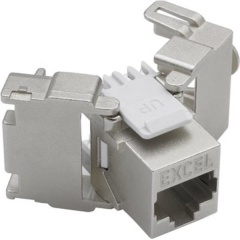 CAT 6A FTP Keystone Jack Butterfly Style - Toolless (24-pack)