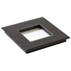 Glazen enkelvoudige afdekplaat Tastu voor Niko materiaal 45*45 (zwart)