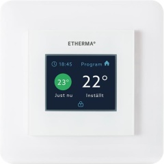 eTOUCH ECO Inbouw Thermostaat Touch & Weekprogr. Wit 5-35°C 16A