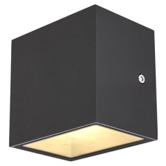 Sitra CUBE WL LED outdoor wand/plafond antraciet IP44 3000K 10W