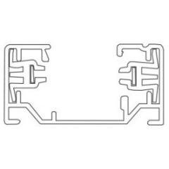 TRACK 2-fase - aluminium - max 16A - lengte 930mm - 35mm x 18mm - zwart