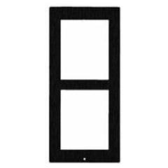 GetFace IP - Frame voor opbouw - 2 modules (zwart) (Zennio)