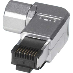 CAT 6A Screened Angled Field Installation Plug (6-pack)